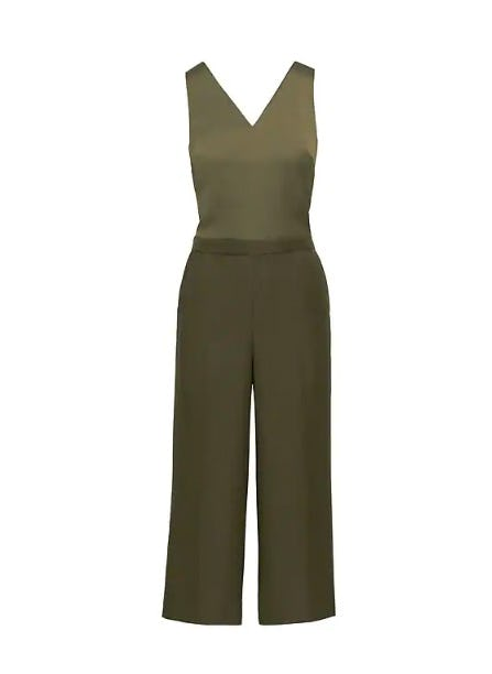 Twist-Back Cropped Jumpsuit