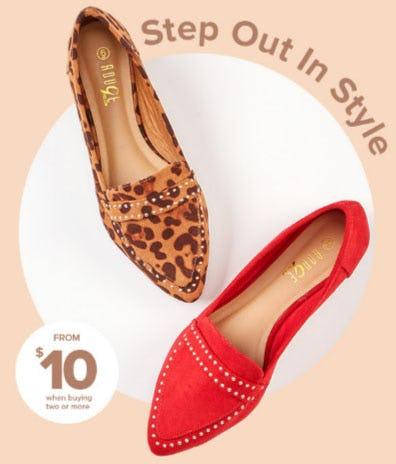 Flats from $10 When Buying Two or More from Rainbow