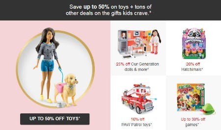 Up to 50% Off Toys from Target