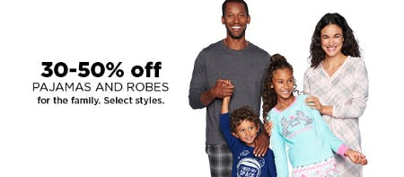 30-50% Off Pajamas and Robes from Kohl's