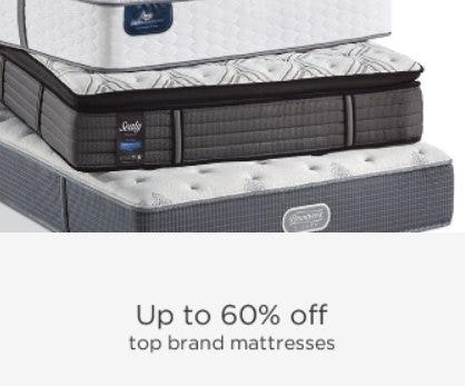 Up to 60% Off Top Brand Mattresses from Sears