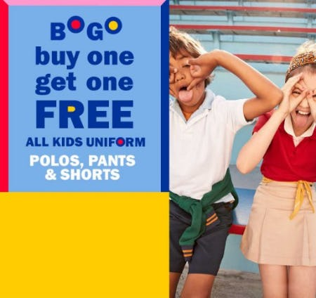 BOGO Free All Kids Uniform from Old Navy