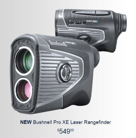 New Bushnell Pro XE Laser Rangefinder from Golf Galaxy