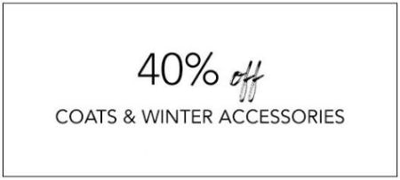 40% Off Coats & Winter Accessories