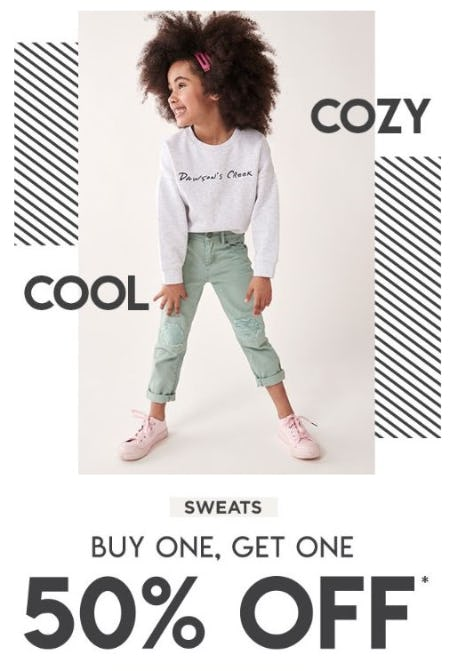 BOGO 50% Off Sweats from Cotton On Kids