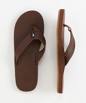 Leather Flip-Flops for Summer