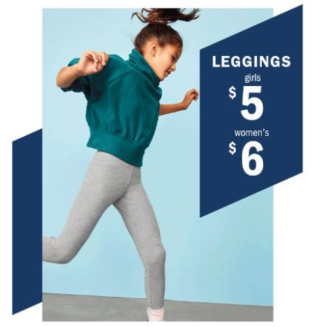 $6 Leggings for Women & $5 for Girls from Old Navy