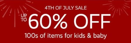 4th of July Sale: Up to 60% Off from Pottery Barn Kids