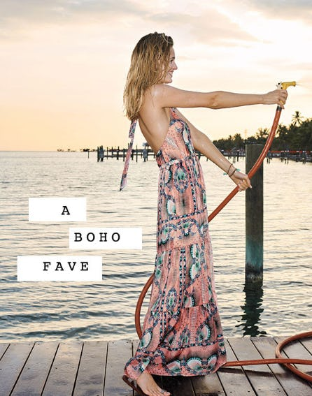 The Moroccan Print Maxi Dress from Anthropologie