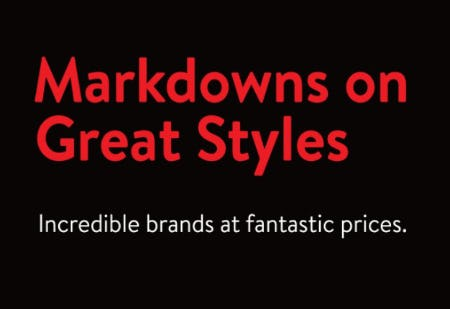 Markdowns on Great Styles