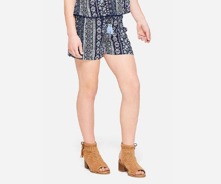 Tassel Pattern Soft Shorts