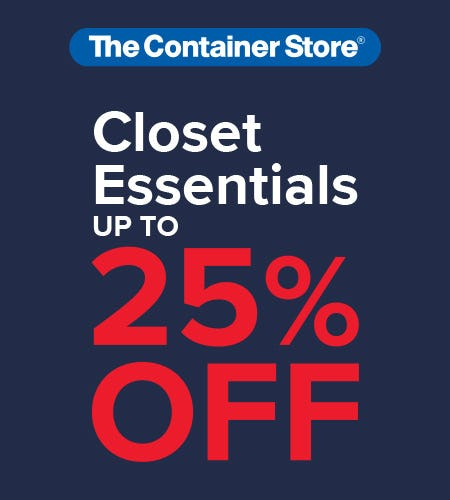 The Container Store Closet Essentials Sale