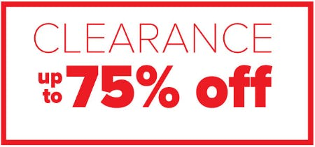 Clearance Up to 75% Off from Belk