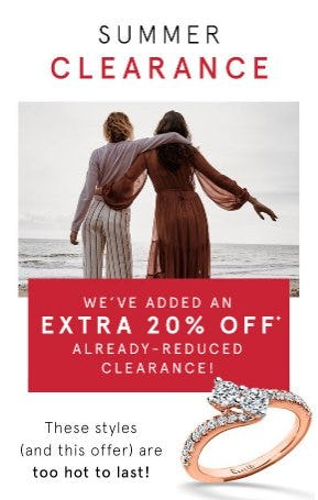 Extra 20% Off Already-Reduced Clearance from Kay Jewelers