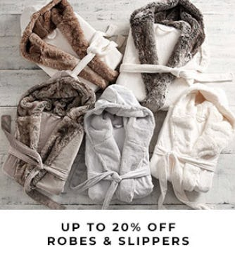 Up to 20% Off Robes & Slippers from Pottery Barn
