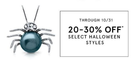20–30% Off Select Halloween Styles