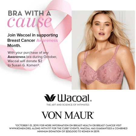 Wacoal Awareness Donation from Von Maur