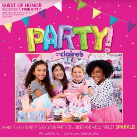 Party at Claire's from Claire's