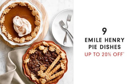 Up to 20% Off Emile Henry Pie Dishes from Williams-Sonoma