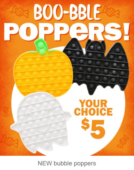 New Bubble Poppers $5 from Five Below