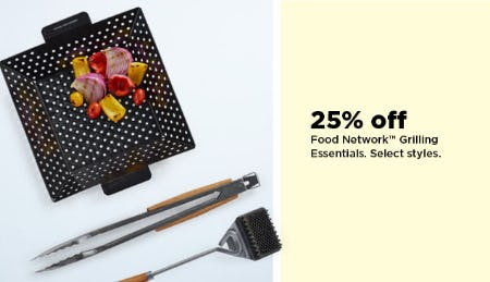 25% Off Food Network Grilling Essentials from Kohl's