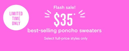 $35 Best-Selling Poncho Sweaters