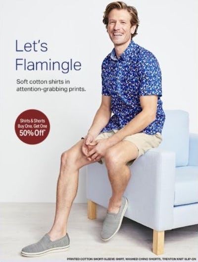 BOGO 50% Off Shirts and Shorts from Johnston & Murphy
