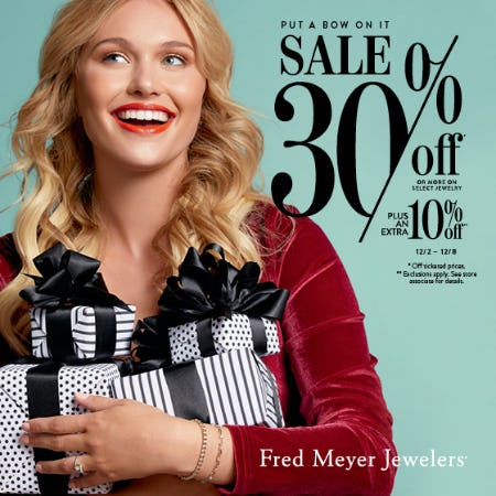 Put A Bow On it Sale from Fred Meyer Jewelers