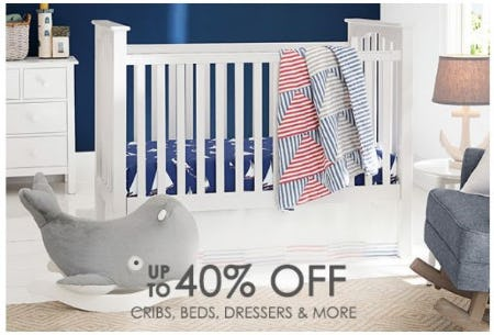 Up to 40% Off Cribs, Beds, Dressers & More from Pottery Barn Kids