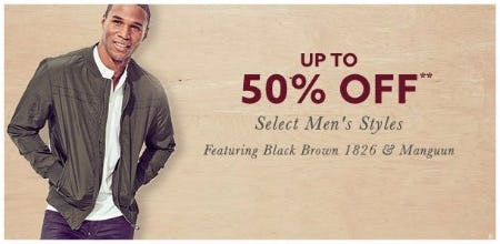 Up to 50% Off Select Men's Styles
