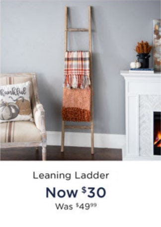 Leaning Ladder Now $30 from Kirkland's