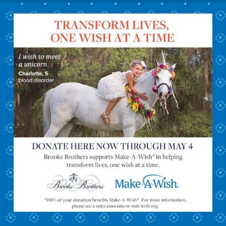 Transform Lives, One Wish at a Time from Brooks Brothers