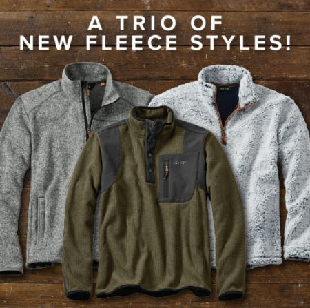 A Trio of New Fleece Styles from Orvis