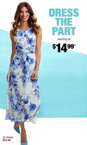 Shop New Dresses from $14.99 from Burlington