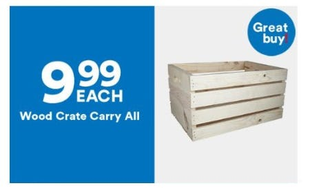 $9.99 Each Wood Crate Carry All from Michaels