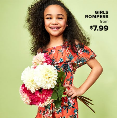 Girls Romper From $7.99 from Rainbow