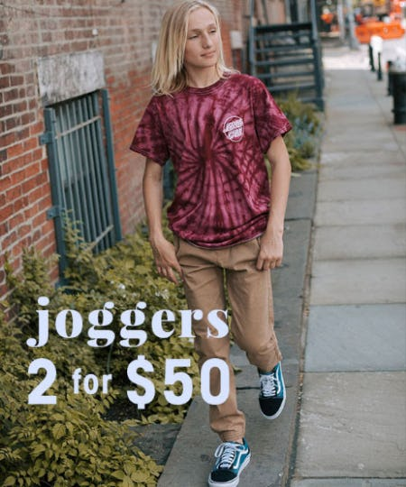 2 For $50 Joggers from Tilly's