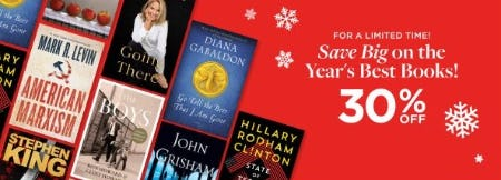 30% Off the Year's Best Books from Books-A-Million