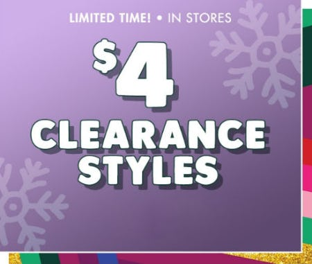 $4 Clearance Styles from Justice