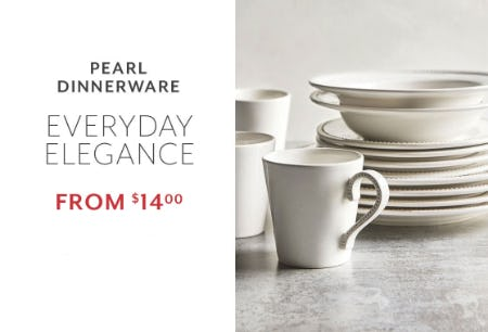Pearl Dinnerware from $14.00 from Sur La Table