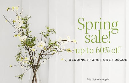 Spring Sale Up to 60% Off from Pottery Barn