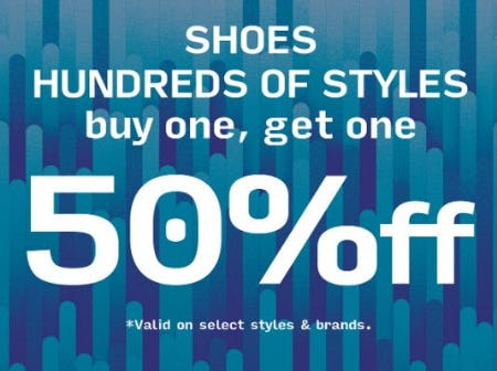 Shoes Buy One, Get One 50% Off