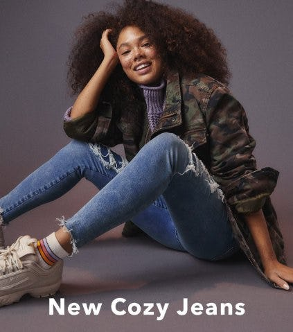 Stay Warm in New Cozy Jeans from American Eagle Outfitters