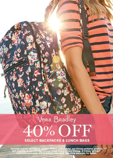 The Backpack & Lunch Event is on! from Vera Bradley