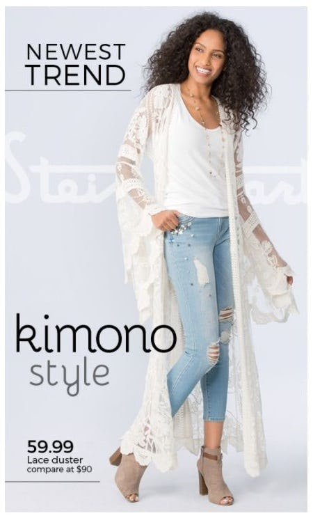 Newest Trend: Kimono Style from Stein Mart