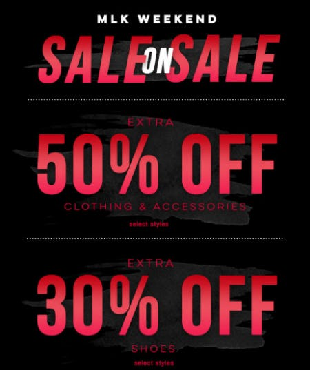 Sale on Sale Extra 50% Off Clothing & Accessories, Extra 30% Off Shoes from Tillys