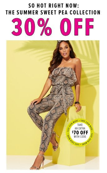 The Summer Sweat Pea Collection 30% Off from New York & Company