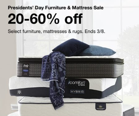Presidents' Day Furniture & Mattress Sale: 20-60% Off