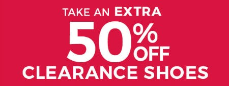Take an Extra 50% Off on Clearance Shoes