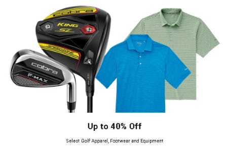 Up to 40% Off Select Golf Apparel, Footwear and Equipment from Dick's Sporting Goods
